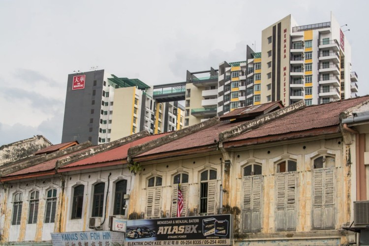 new vs old ipoh - malaisie