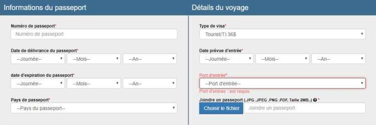 infos passeport e-visa cambodge