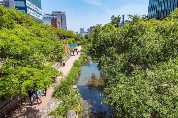 coulée verte decheonggyecheon à Séoul