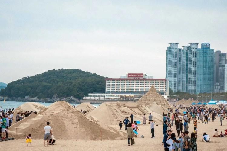 festival du sable plage haeundae busan
