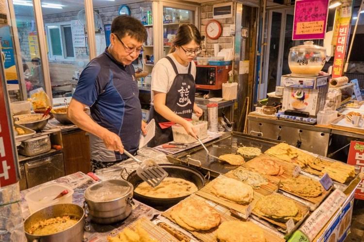 rue anime soir busan coree du sud