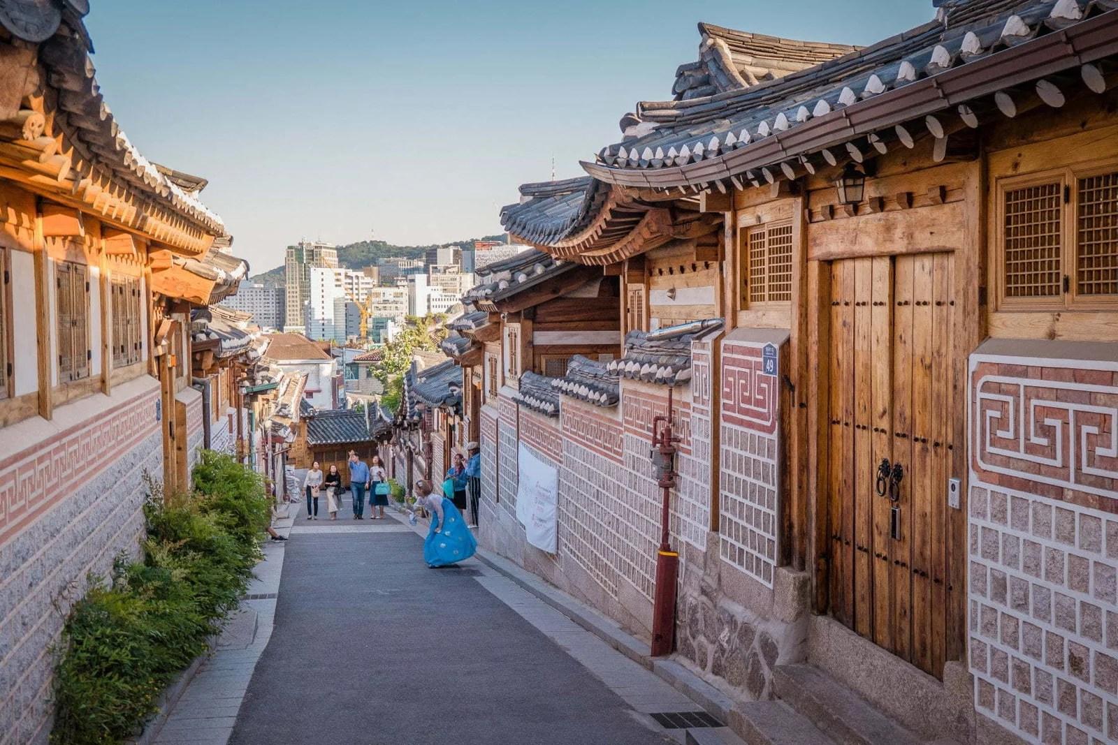 ruelle bukchon hanok village seoul coree du sud