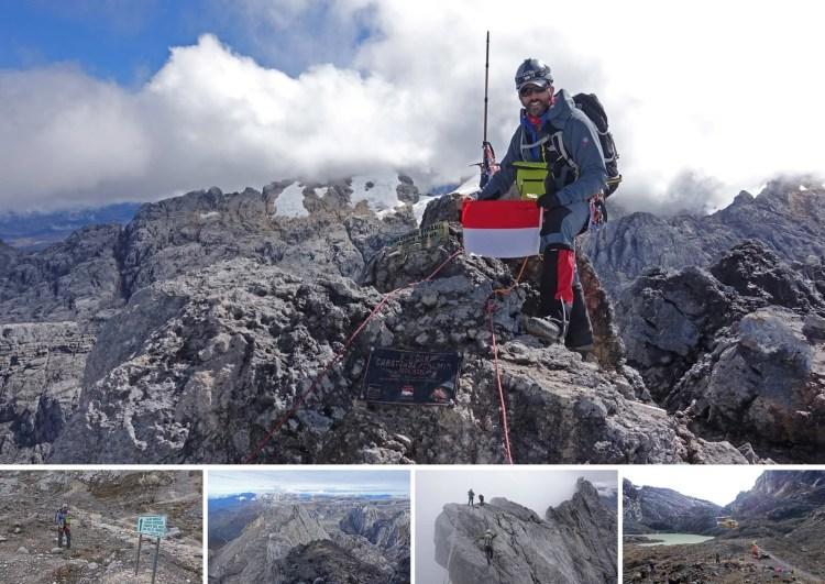 sommet puncak jaya papouasie indonesie