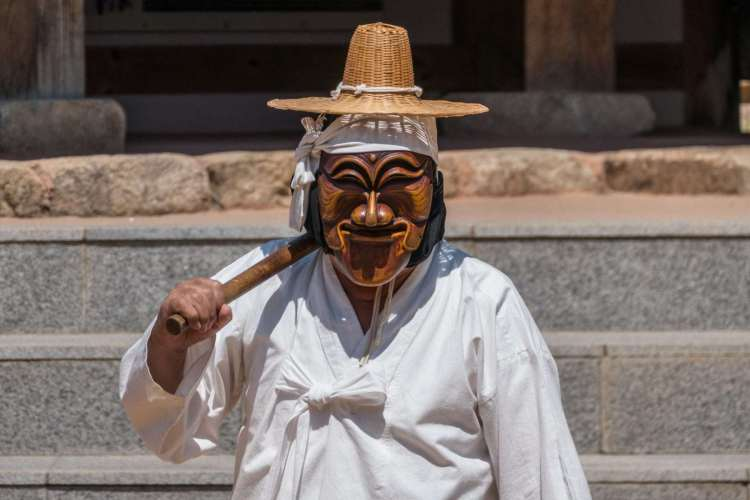 spectacle folklorique masques coree du sud