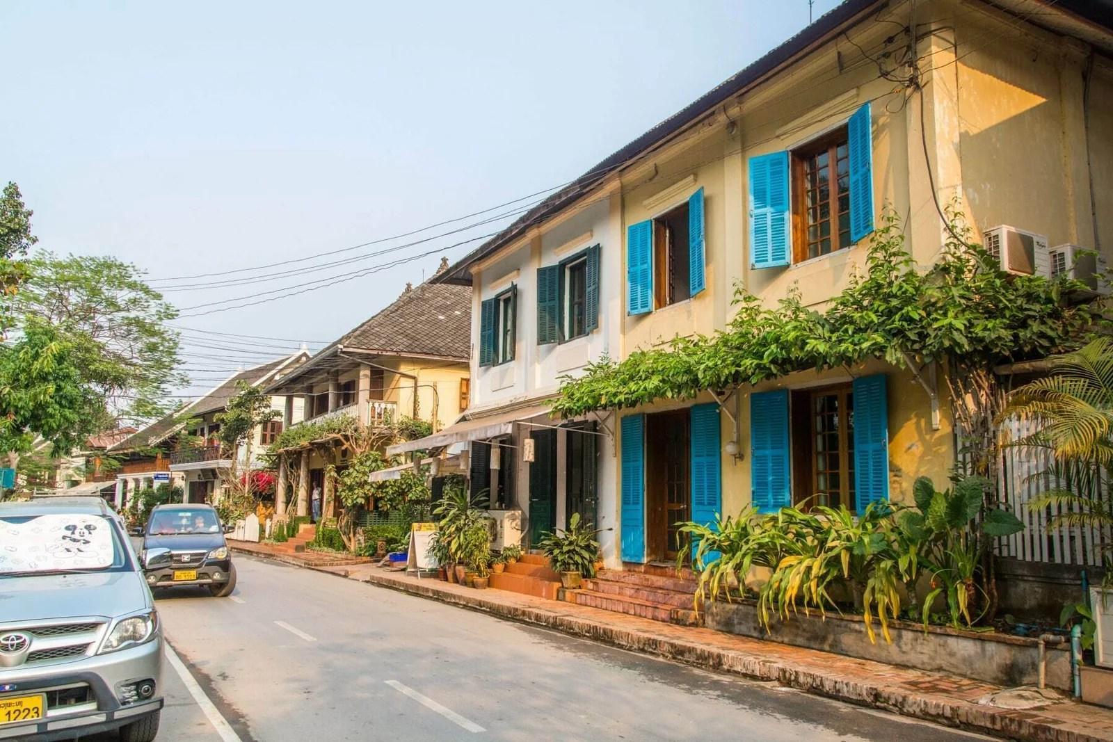 rue luang prabang nord laos