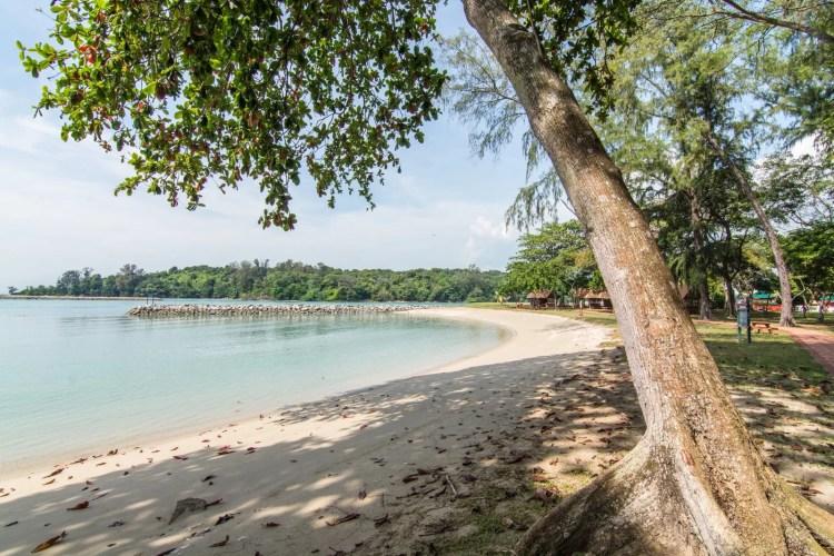 plage ile kusu singapour