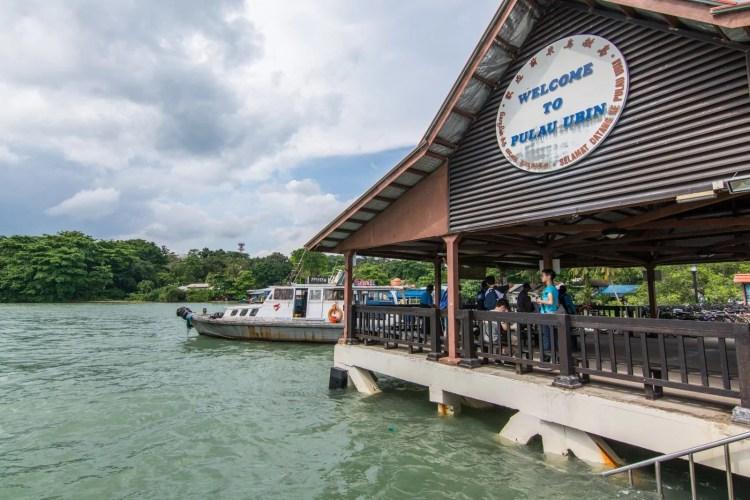 quai arrivee pulau ubin singapour