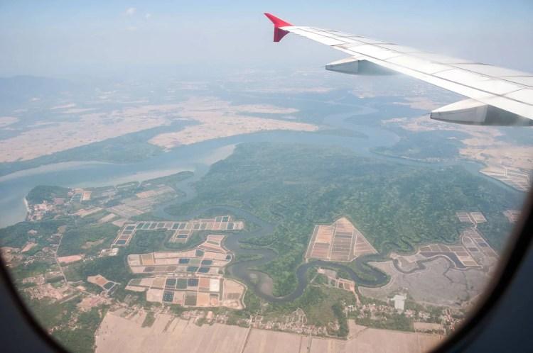 survol malaisie vue avion