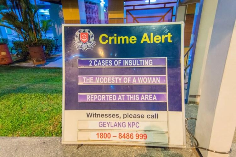 panneau recherche temoins singapour