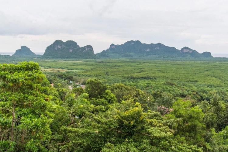 vue depuis wat kaeo prasert chumphon thailande