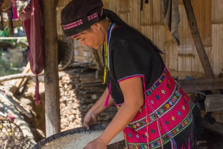 villageois karen trek chiang mai - thailande