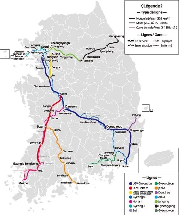 carte-reseau-ferre-train-KTX-coree-du-sud