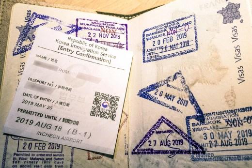 passeport visa coree du sud