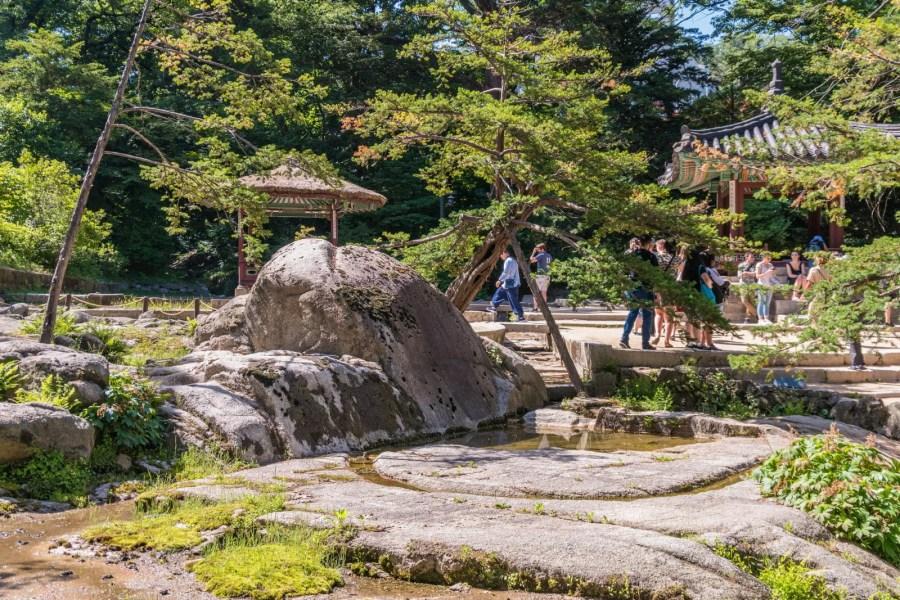 rocher depart ruisseau ongnyucheon jardin secret seoul
