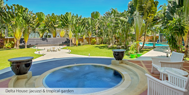 Delta House- jacuzzi-tropical garden