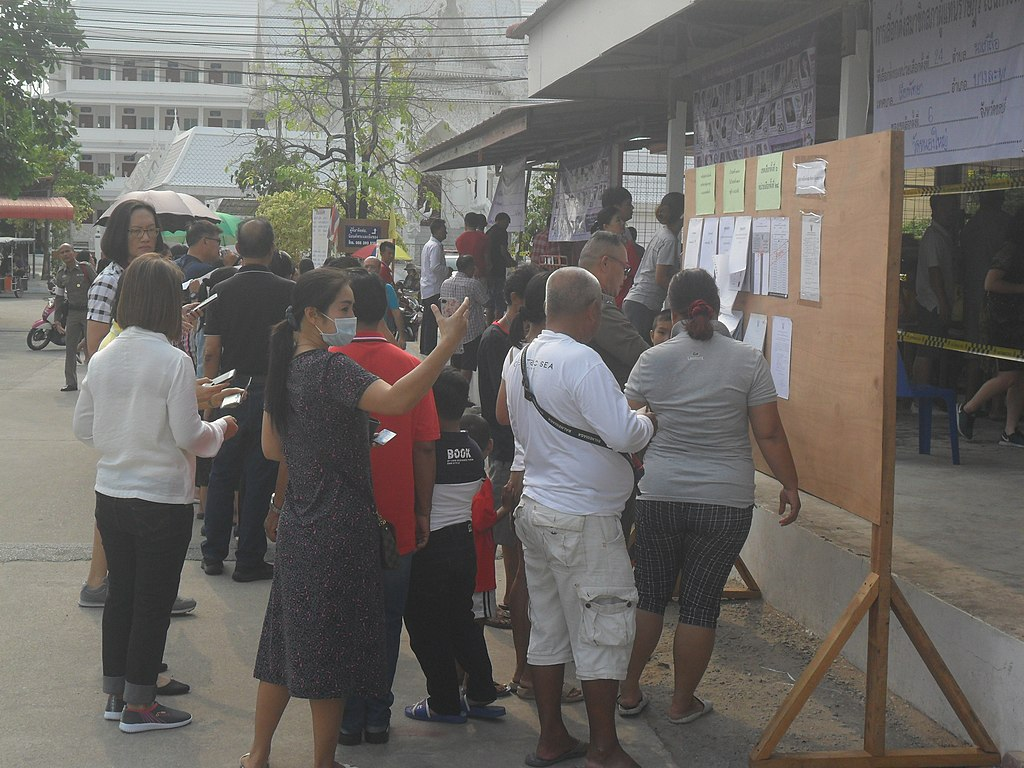 2019 Election poll station in Chon Buri