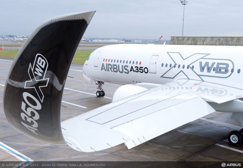 Wing of an Airbus A350 XWB