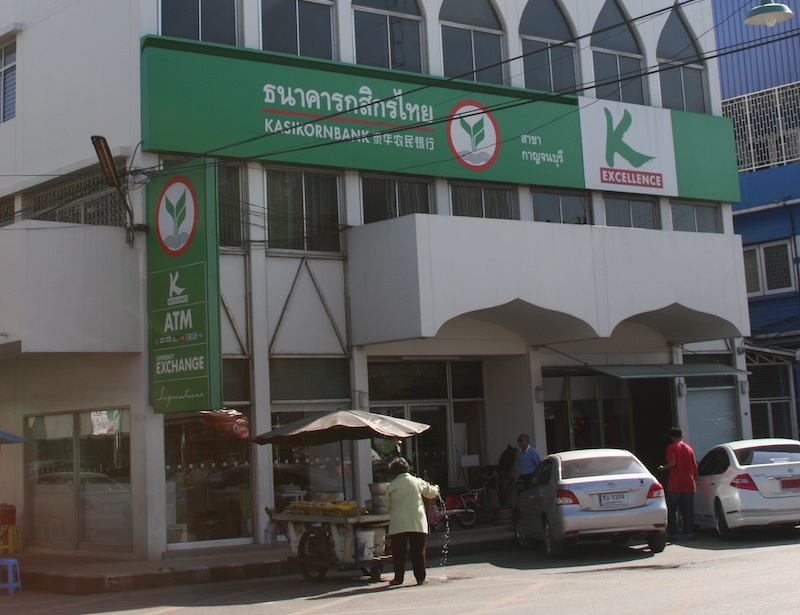 Kasikornbank the Thai Farmers' Bank in Kanchanaburi