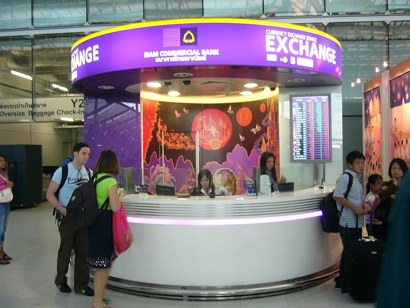 Currency exchange of Siam Commercial Bank at Suvarnabhumi International Airport
