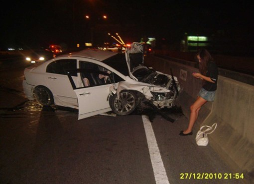 Accident on Bangkok Tollway