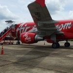 AirAsia airbus A320 at Surat Thani Airport in 2010