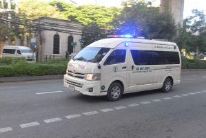 Toyota ambulance in Bangkok
