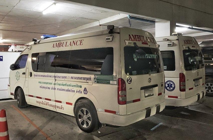 Ambulances of HRH Maha Chakri Sirindhorn Medical Centre in Nakhon Nayok Province