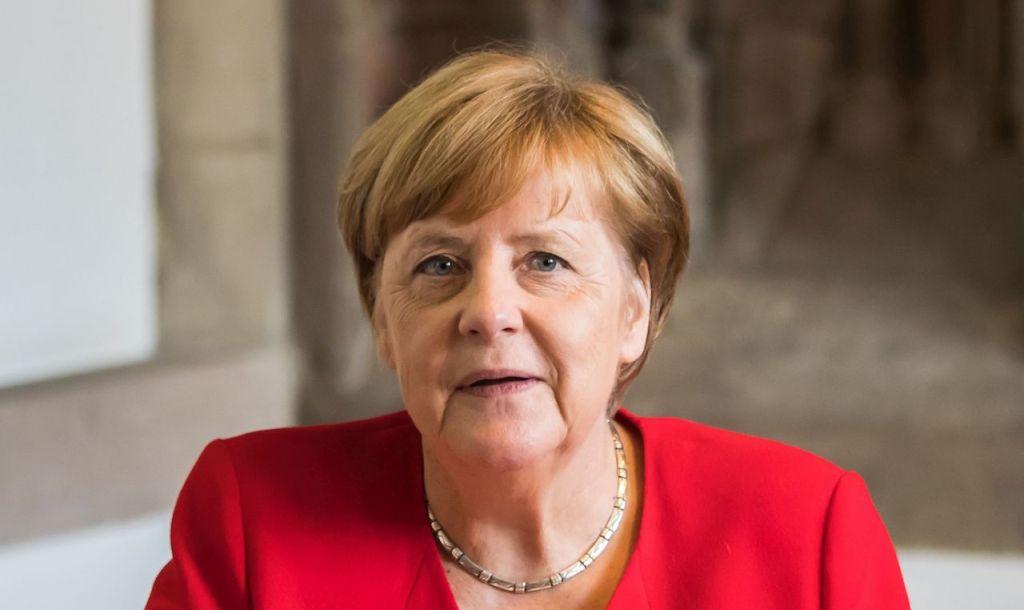 Chancellor Angela Merkel visits Cologne City Hall