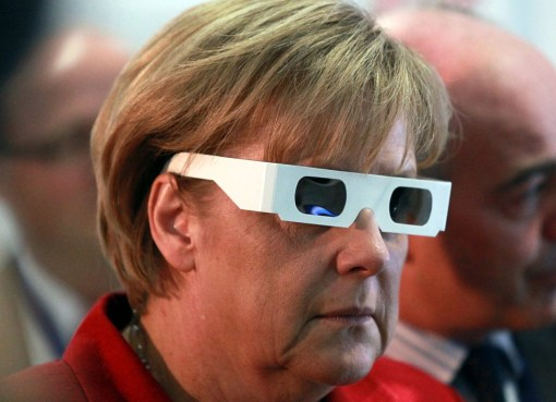 Former German Chancellor Angela Merkel during the opening ceremony in Darmstadt (Germany)