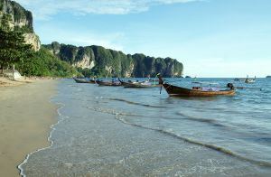 Ao Nang beach in Ao Nang, Krabi