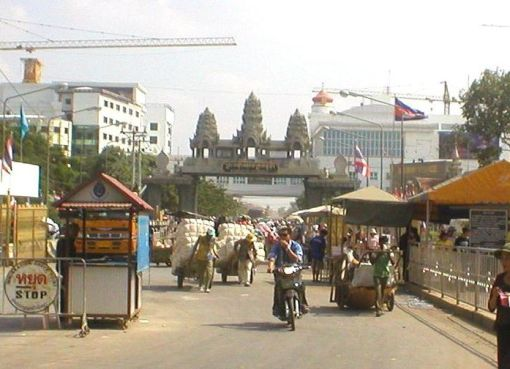 Thai-Cambodian border in Aranyaprathet