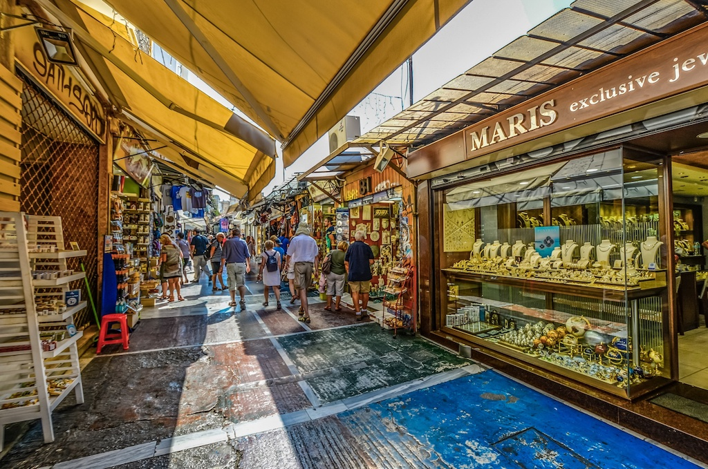 Outdoor market in Athens