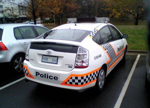 Australian Federal Police Toyota Prius car