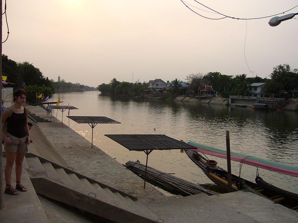 Pier on Ayutthaya river