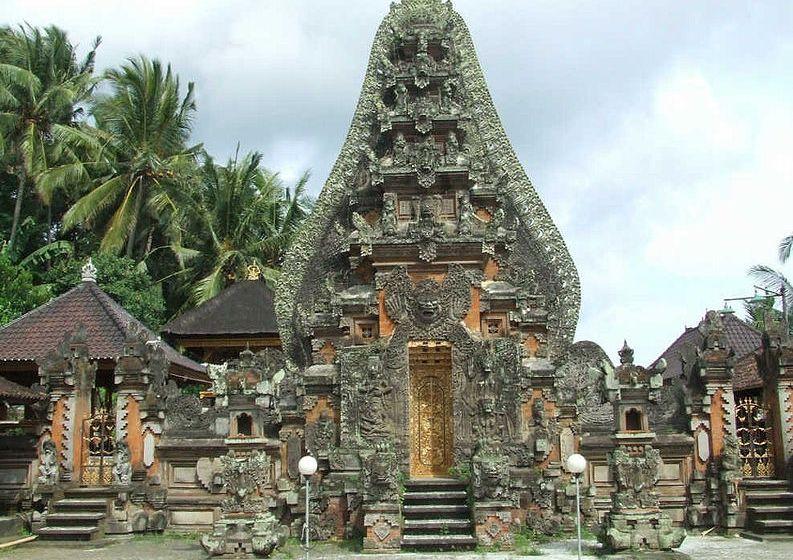 Candi kurung of Pura Dalem, Bali