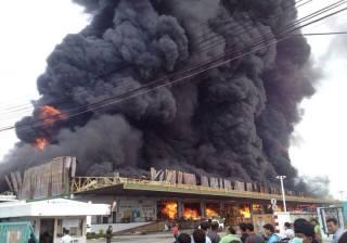 Fire in Samut Prakan