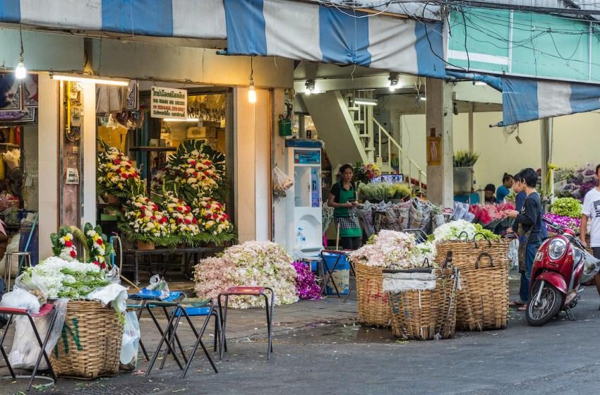Pak Khlong Talat flower market in Bangkok now a ghost town