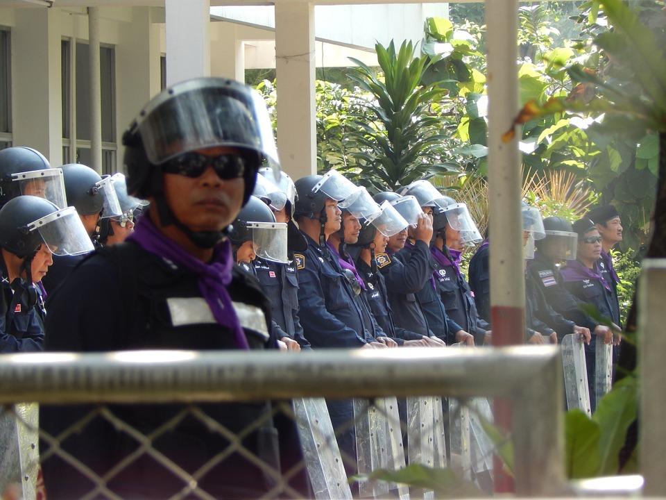 Bangkok police officers uniforms