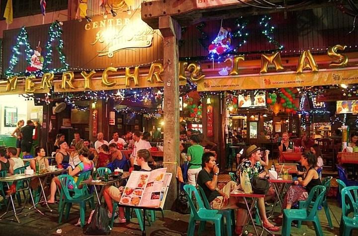 A pub restaurant in Khao San Road, Bangkok