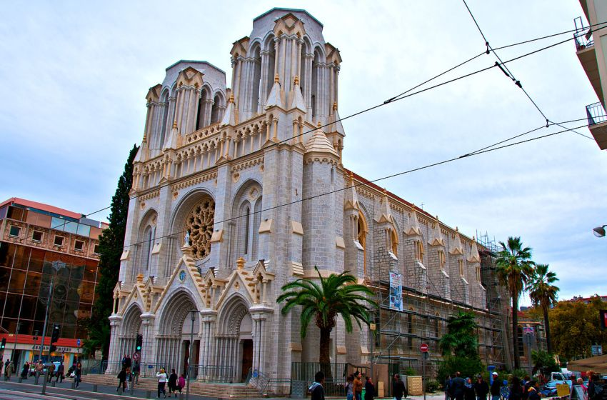The Basilique Notre-Dame in Nice, France