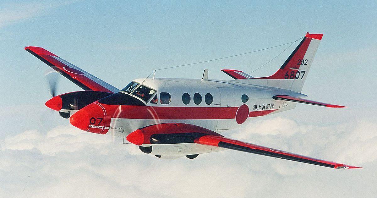 Japanese Beechcraft C90 King Air plane