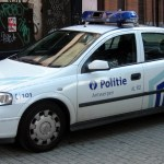 Police car in Antwerp, Belgium