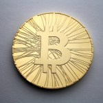 Physical bitcoin coin