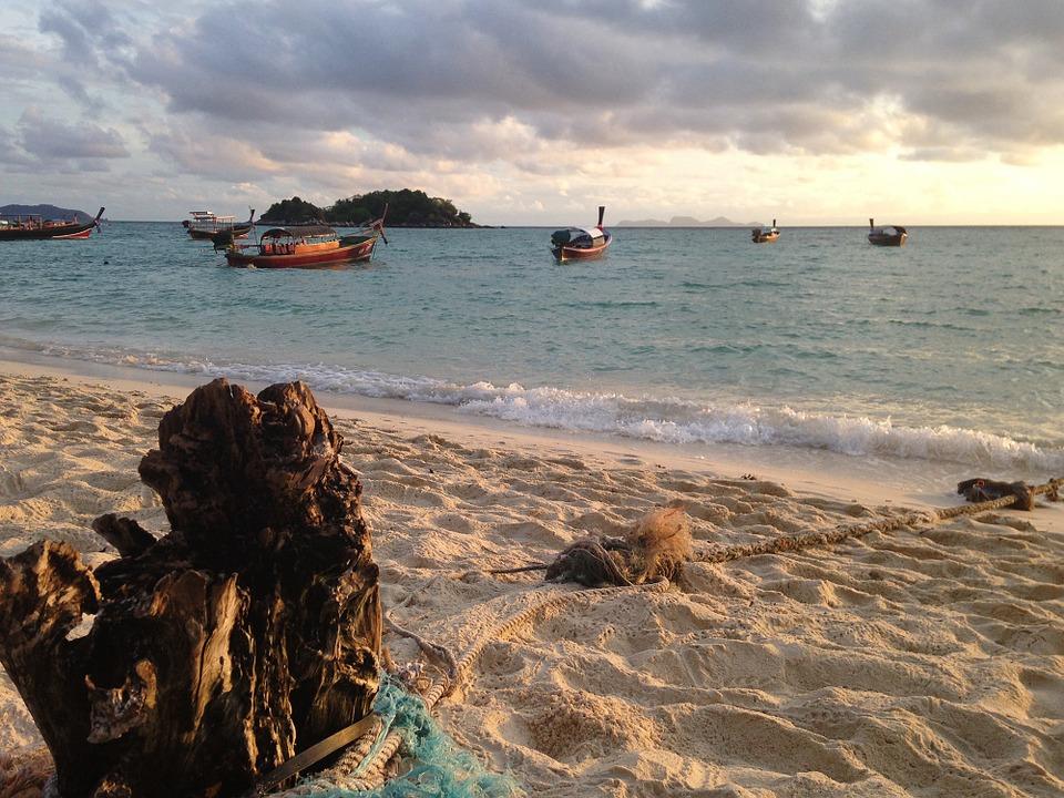 Boats in Koh Lipe island, Satun