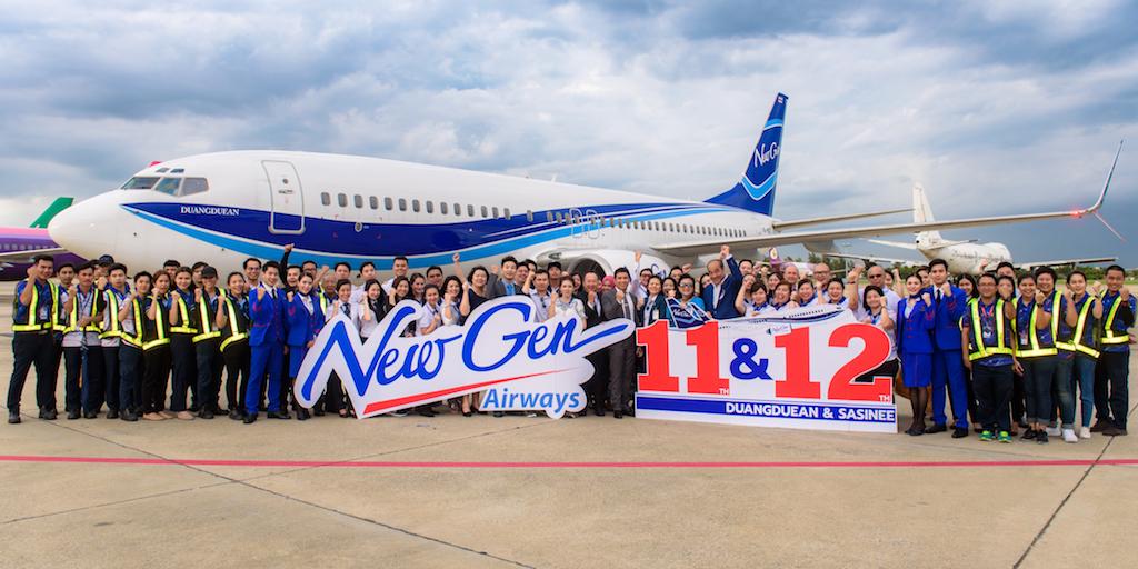NewGen Airways new Boeing 737-800 aircrafts