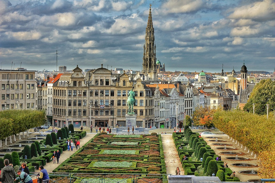 Cityscape of Brussels, Belgium