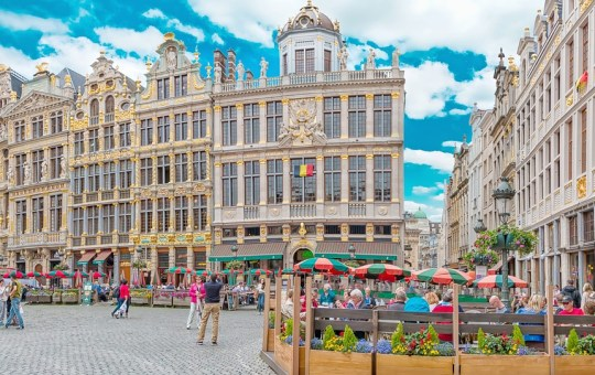 Grote Markt Town Square, Brussels, Belgium