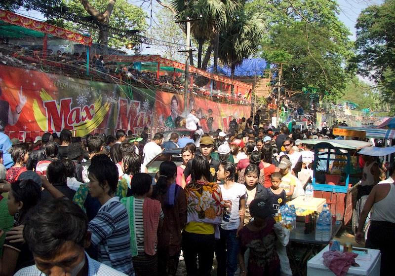 Thingyan celebration in Yangon, Myanmar