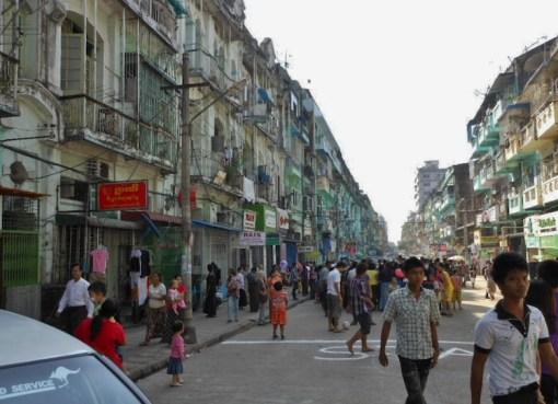 Street in Yangon, Myanmar