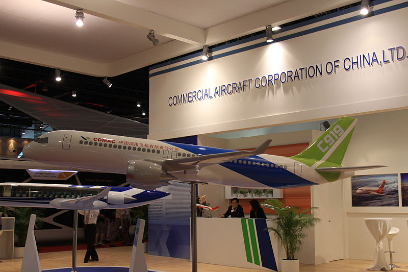 The Chinese airliner COMACC919